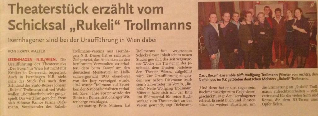 Zeitungsartikel-Theater-Trollman