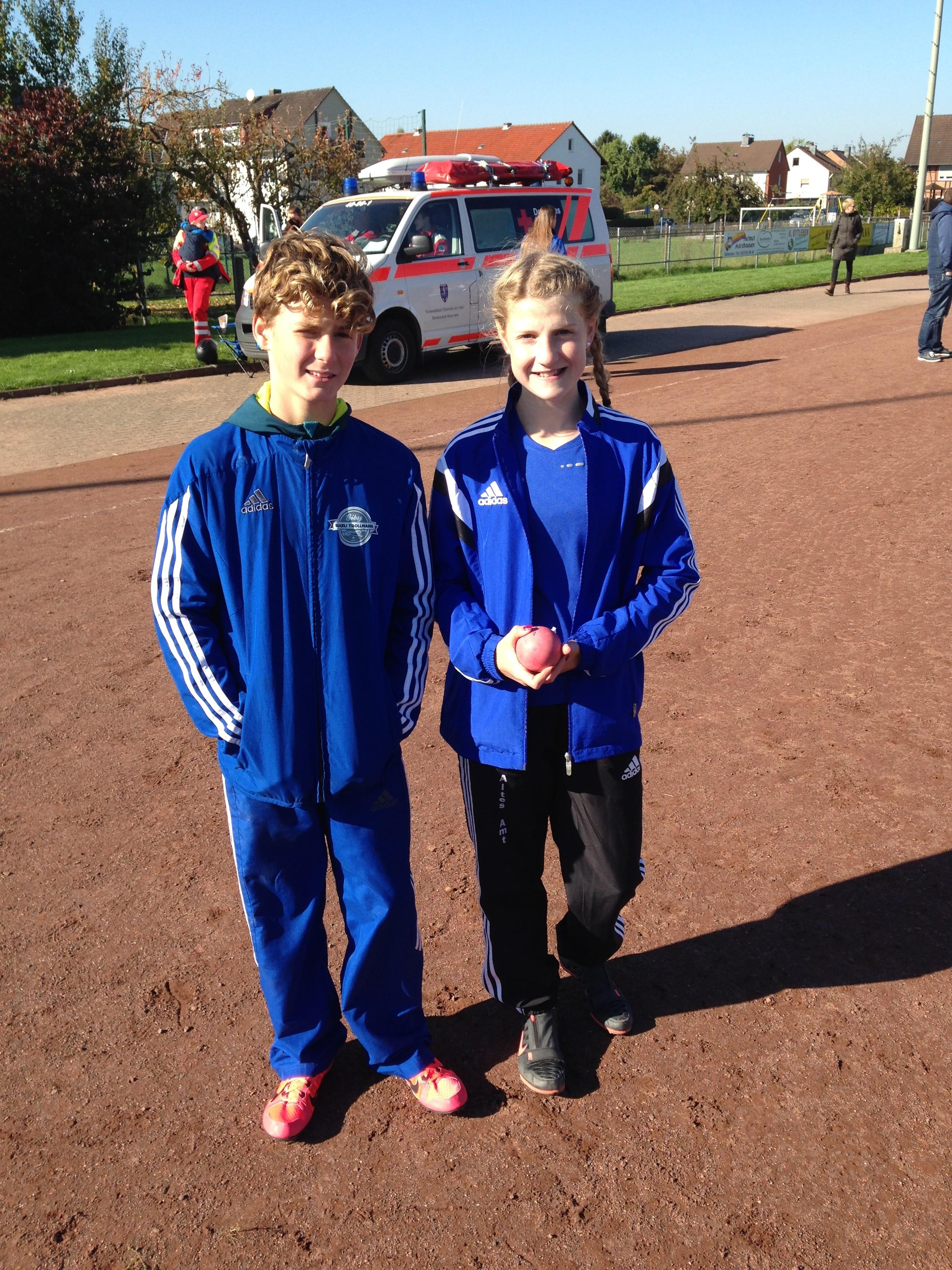 Lara-Noelle Steinbrecher SC Magdeburg und Cristian Ifrim. Zwei große Hoffnungen in der Leichtathletik